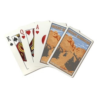 Mt Rushmore National Park, South Dakota - Lantern Press Artwork (Playing Card Deck - 52 Card Poker Size with Jokers)