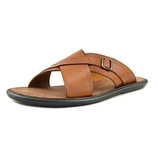 Mercanti Fiorentini Xband Bckl Slide Open Toe Leather Slides Sandal