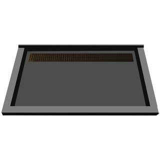 """Tile Redi RT4872BTC-PVC  Redi Trench 72"""" X 48"""" Single Wall Shower Pan with Triple Curb and 2"""" Rear Drain"""
