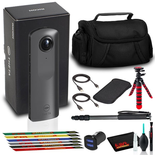 Ricoh THETA V 360 4K Spherical VR Camera with Bag, Tripod, Monopod,. Opens flyout.
