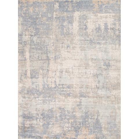 Pasargad Home Villa Nova Hand-Loomed Abstract Silk & Wool Area Rug - 9' x 12'
