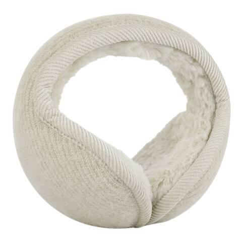 Warm Foldable Winter Knit Earmuffs for Women Men Beige