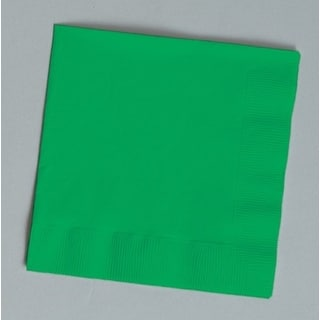 Touch of Color 150 Count Beverage Napkins Emerald Green