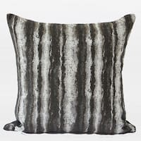 "G Home Collection Luxury Brown Mix Color Stripe Pattern  Metallic Chenille Pillow 20""X20"""