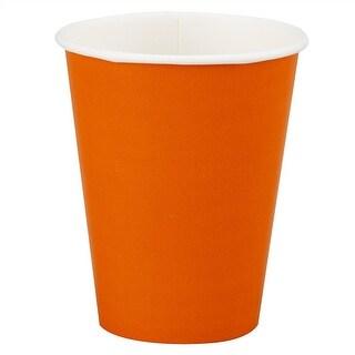 12oz Orange Paper Cups