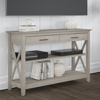 The Gray Barn Console Table with Drawers and Shelves