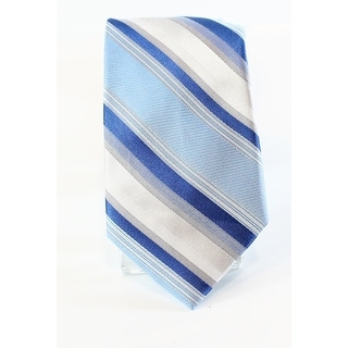 Calvin Klein NEW Royal Blue Men's Slim Striped Print Silk Neck Tie