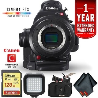 Canon EOS C100 Mark II Cinema Camera (Intl Model) Body Only Kit (3 options available)