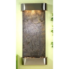 Adagio Inspiration Falls With Green Featherstone in Stainless Steel Finish and R