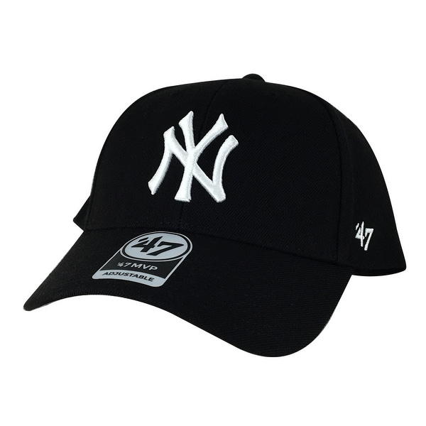 77c0c1fb6f520 Shop 47  Brand MVP Adjustable Hat - New York yankees Black White ( Custom )  - Free Shipping On Orders Over  45 - Overstock - 14311891