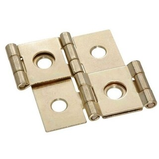 Stanley 73-0200 Screen Door Double Acting Hinges, Satin Brass