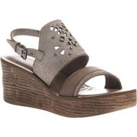 OTBT Women's Hippie Wedge Sandal Sport White Leather