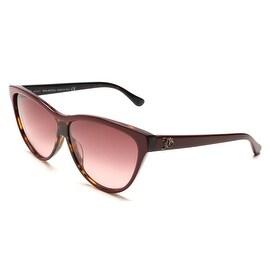 John Galliano Women's Cat Eye Sunglasses Red/Tortoise - Clear - Small