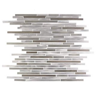 Miseno MT-ALLOYLINEARSHTHIN Alloy - Thin Glass Visual - Wall Tile (Sold by Sheet