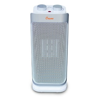 Crane 1,500 Watt Ceramic Mini Oscillating Tower Space Heater