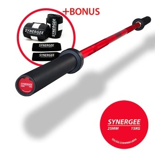 Synergee S-3 20 kg and 15 kg Colored Cerakote Olympic Barbell - Rated 1500lbs