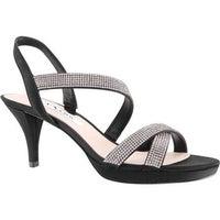 263f208ac314 Shop Nina Women s Fenna Platform Stiletto Sandal Stone Glitter ...