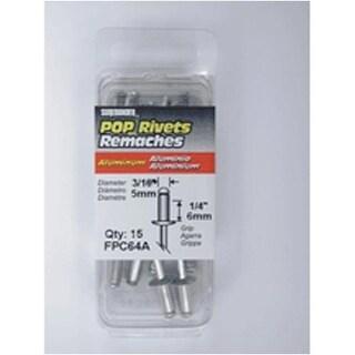 """FPC FPC64A Aluminum Rivet 1/4""""x3/16"""" Medium, 15/Pack"""