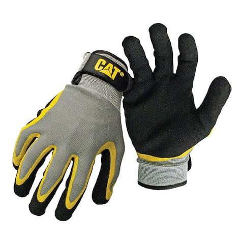 Cat CAT017415M Men's Work Gloves, Polyester Knit, Medium