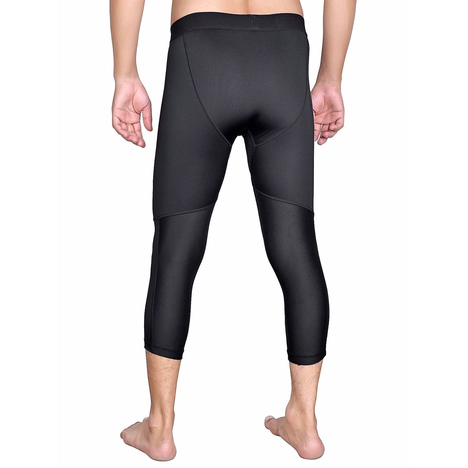 Shop Men S Cool Dry3 4base Layer Compression Pants Gym Tights Ml3 Overstock 22996721
