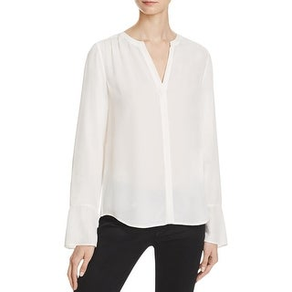Joie Womens Ceegan Blouse Silk Bell Sleeves