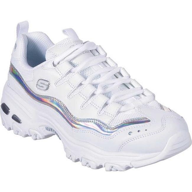 Skechers Women's D'Lites Grand View Sneaker WhiteSilver