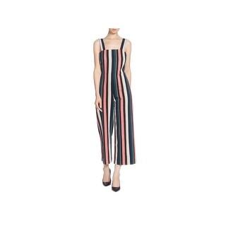 CATHERINE CATHERINE MALANDRINO Womens Jumpsuit Striped Wide Leg - 10