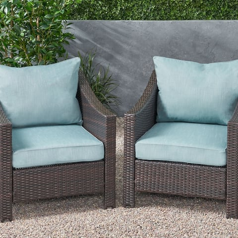 Bernadette Club Chair Cushions (Set of 2) by Christopher Knight Home