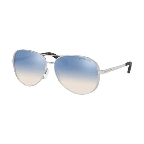 Michael Kors MK5004 1153V6 59 Silver Woman Pilot Sunglasses