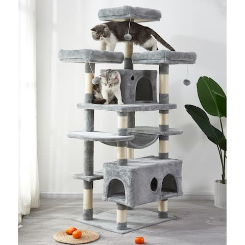 Large Cat Tree Condo with Scratching Posts Perches Houses Hammock