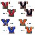 UNISEX Dashiki Men's Adult Summer Casual Loose Short Sleeve Cotton Jersey Kaftan T-Shirt - Thumbnail 4