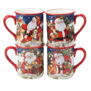 Link to Certified International Magic Of Christmas Santa 16 oz. Mugs (Set of 4) Similar Items in Dinnerware