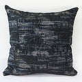 "G Home Collection Luxury Blue Mix Color Metallic Chenille Pillow 22""X22"" - Thumbnail 2"