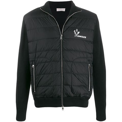 Moncler Mens Black Sweater Jacket Cardigan