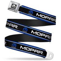 Mopar Logo Full Color Black White Mopar Text Logo Stripe Blue White Black Seatbelt Belt
