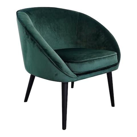 Aurelle Home Modern Velvert Plush Upholstered Accent Chair
