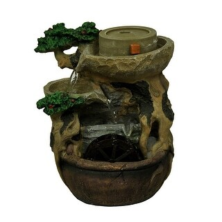 The Watering Tree Decorative Tabletop Water Fountain with Spinning Water Wheel