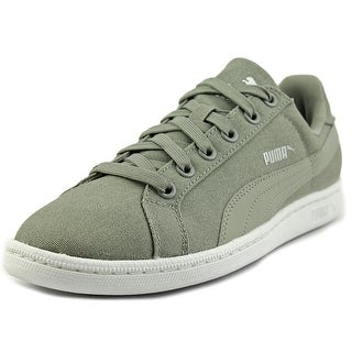 Puma Smash Waxed Denim Women Round Toe Canvas Gray Sneakers