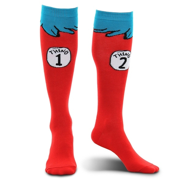 Dr Seuss Thing 1 & 2 Costume Socks Child One Size