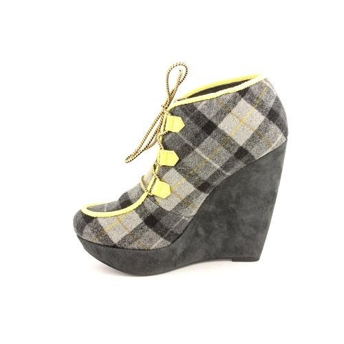 Rachel Roy Womens Hayleey Fabric Almond Toe Casual Platform Sandals