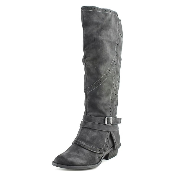 Not Rated Yoko Women Round Toe Synthetic Black Knee High Boot