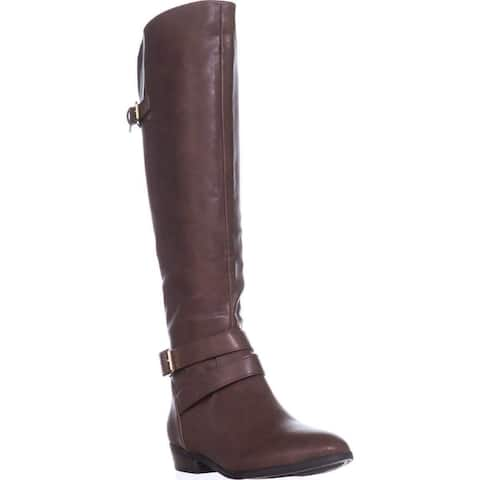 Material Girl Womens mcarleigh Leather Almond Toe Knee High Fashion Boots