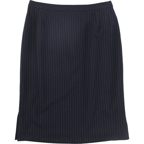 Tahari Womens Pinstripe Pencil Skirt, Blue, 2