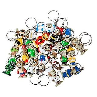 """1.5"""" Collectable Monkey Keychains - Assortment of 20 Monkeys"""