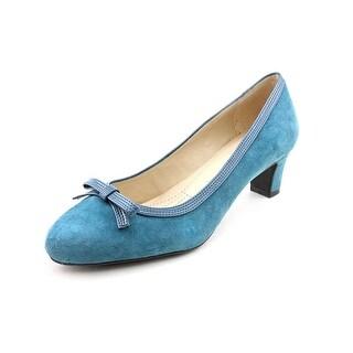 Easy Spirit Ranielle Women Pointed Toe Suede Blue Heels