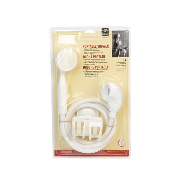 Homz 4430101 Handheld Portable Shower, White
