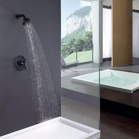 Single-Function Wall-Mount Showerhead, Matte Black