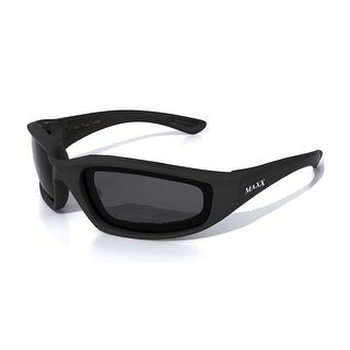 Maxx Sunglasses Foam Black Frame HD  Smoke HD Lenses