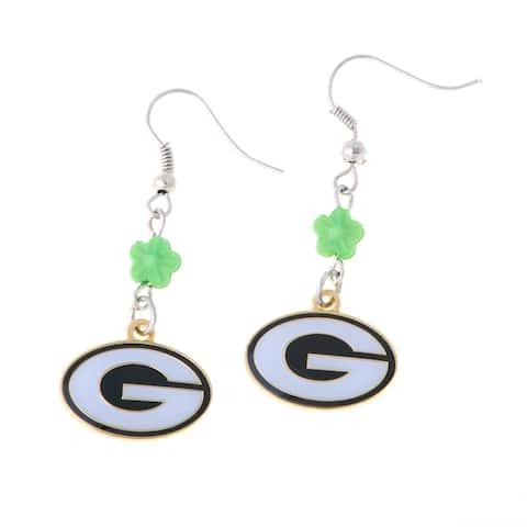 Green Bay Packers Bead Earrings - Multi