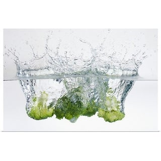 """Broccoli in water"" Poster Print"